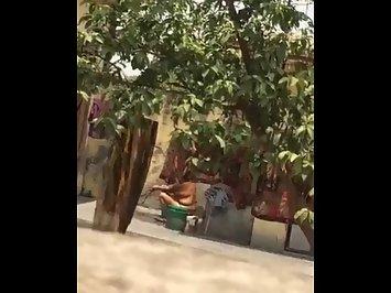 Horny Indian Aunty Open Shower Filmed