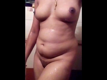 Shy Hot Desi Wife Shower